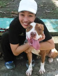 Melody de Jesus and Laguna Pit Bull