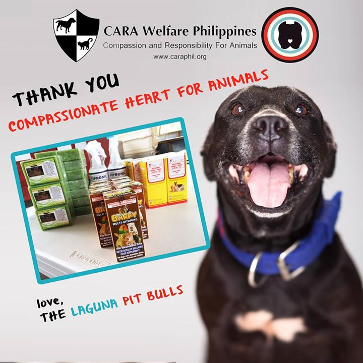 Thank you, Compassionate Heart for Animals!