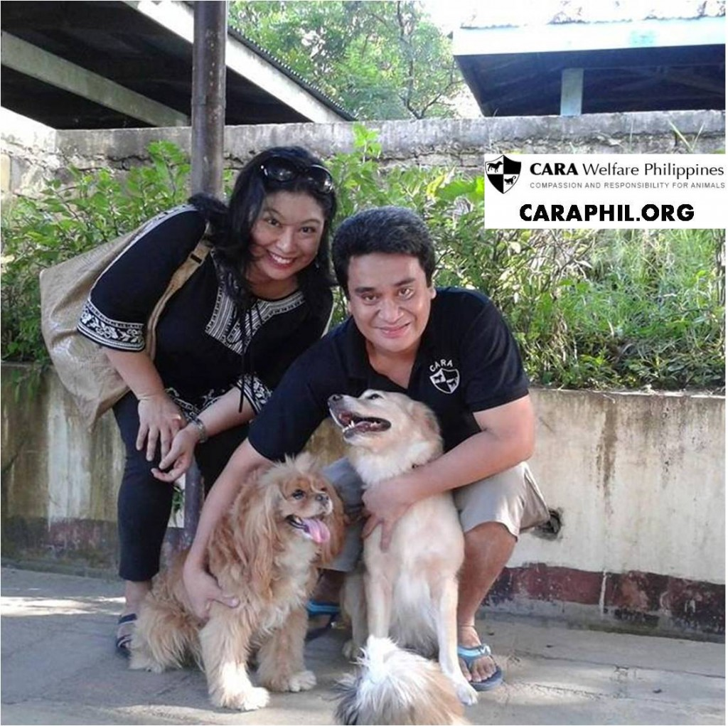 Kimchi with family - CARA rescued dog - animal welfare in the Philippines - pet story