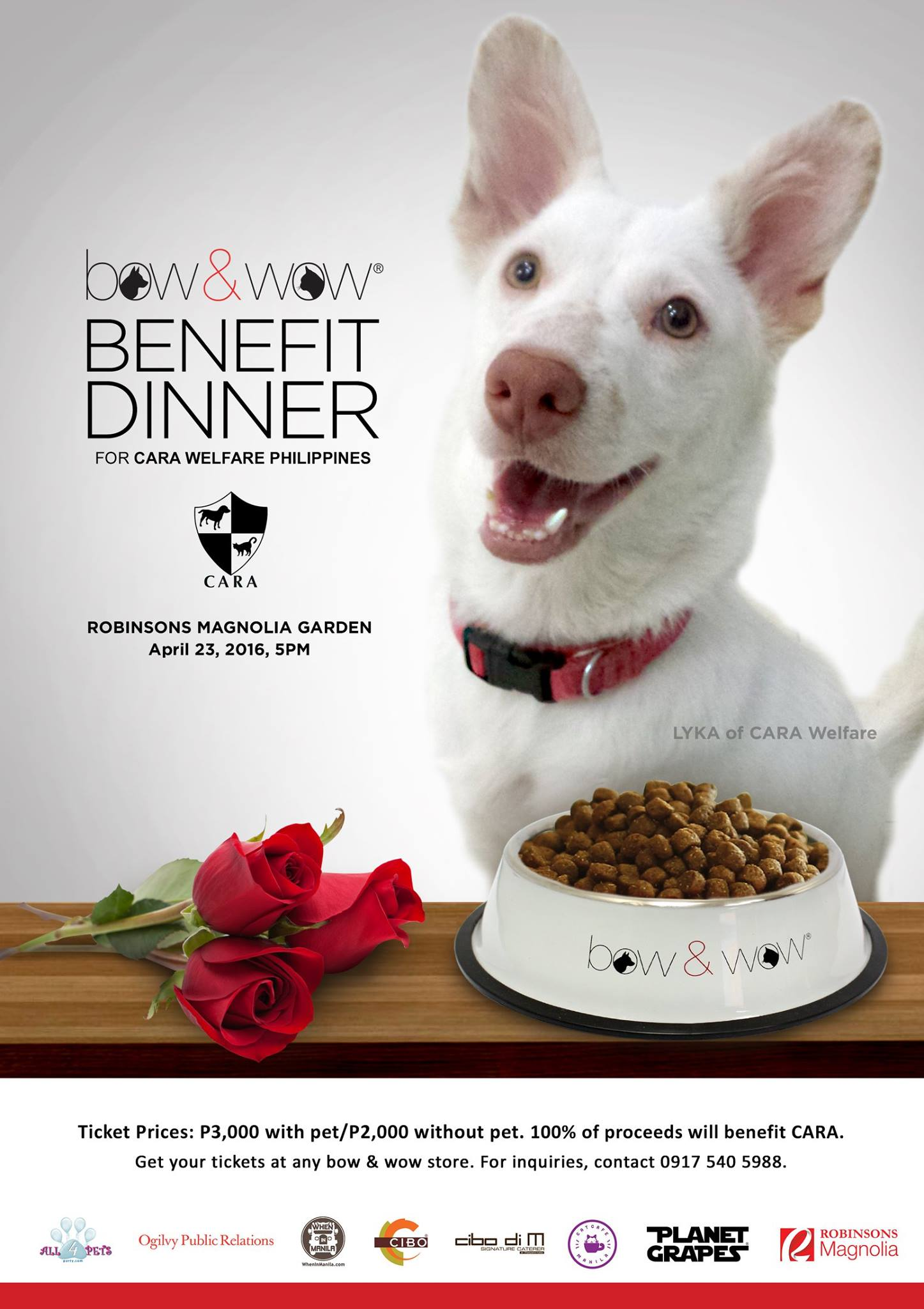 Bow & Wow Benefit Dinner at Robinsons Magnolia Garden