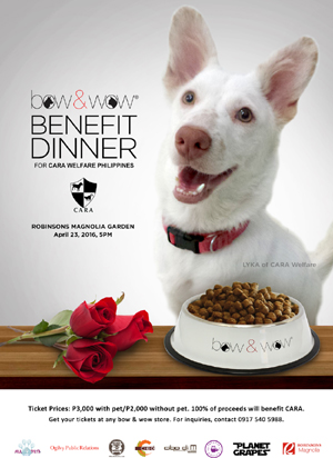 Bow and Wow benefit dinner!