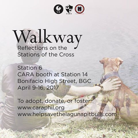 CARA at WALKWAY Reflections on the Stations of the Cross BGC - animal welfare Philippines
