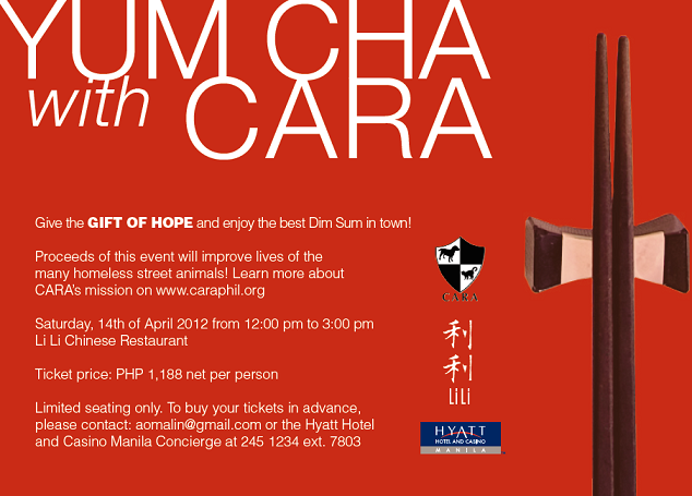 YUM CHA with CARA – 2012 Fundraiser