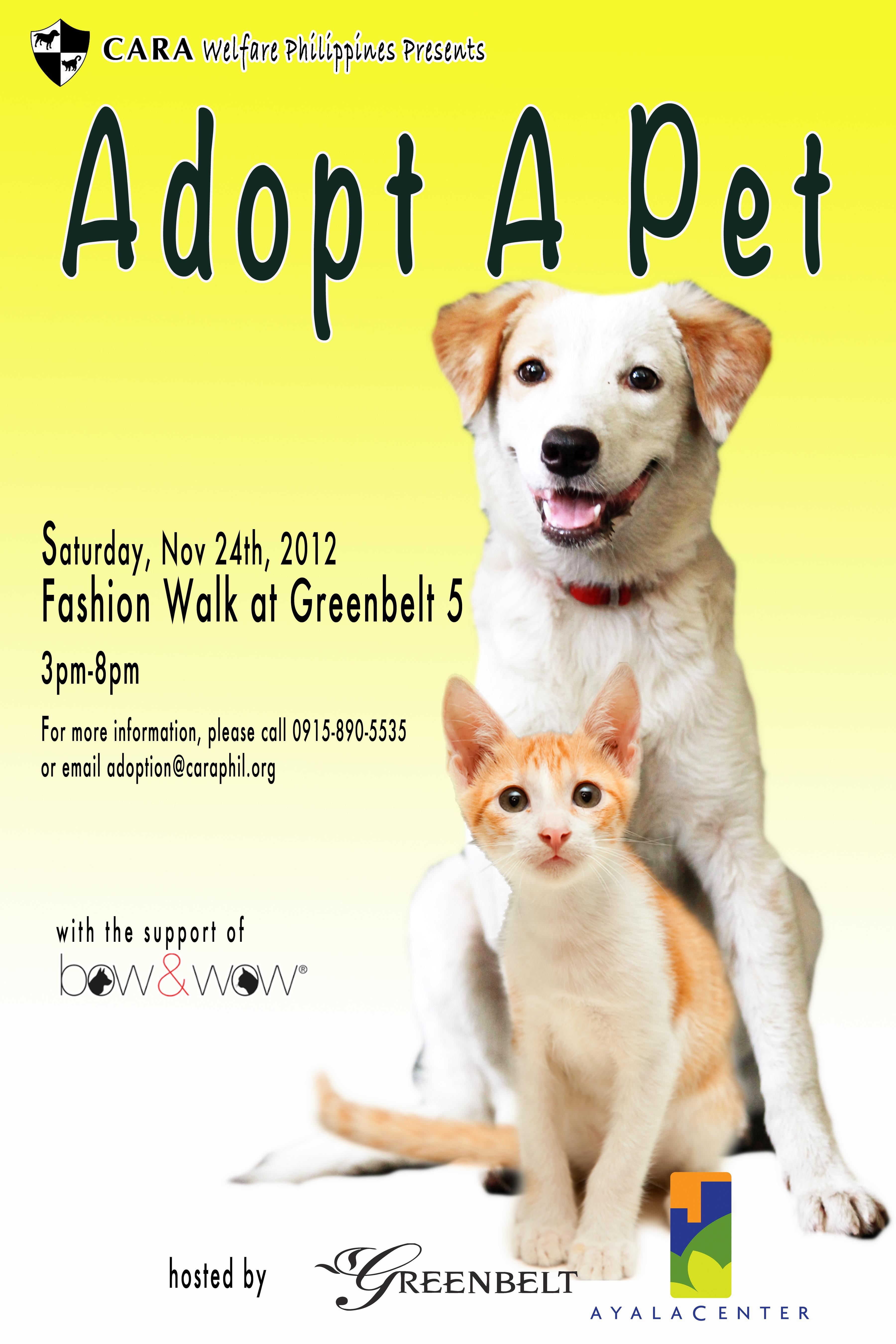 Adopt A Pet at Greenbelt 5!