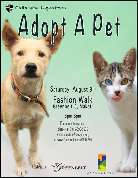 CARA's Adopt A Pet Event August 9