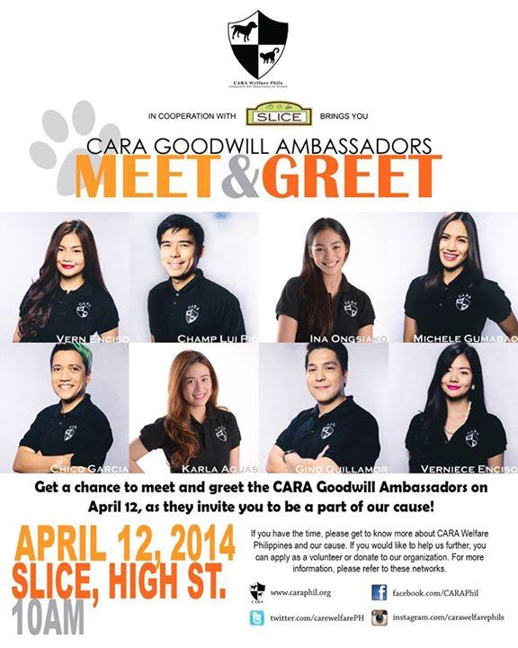 Meet and Greet the CARA Goodwill Ambassadors