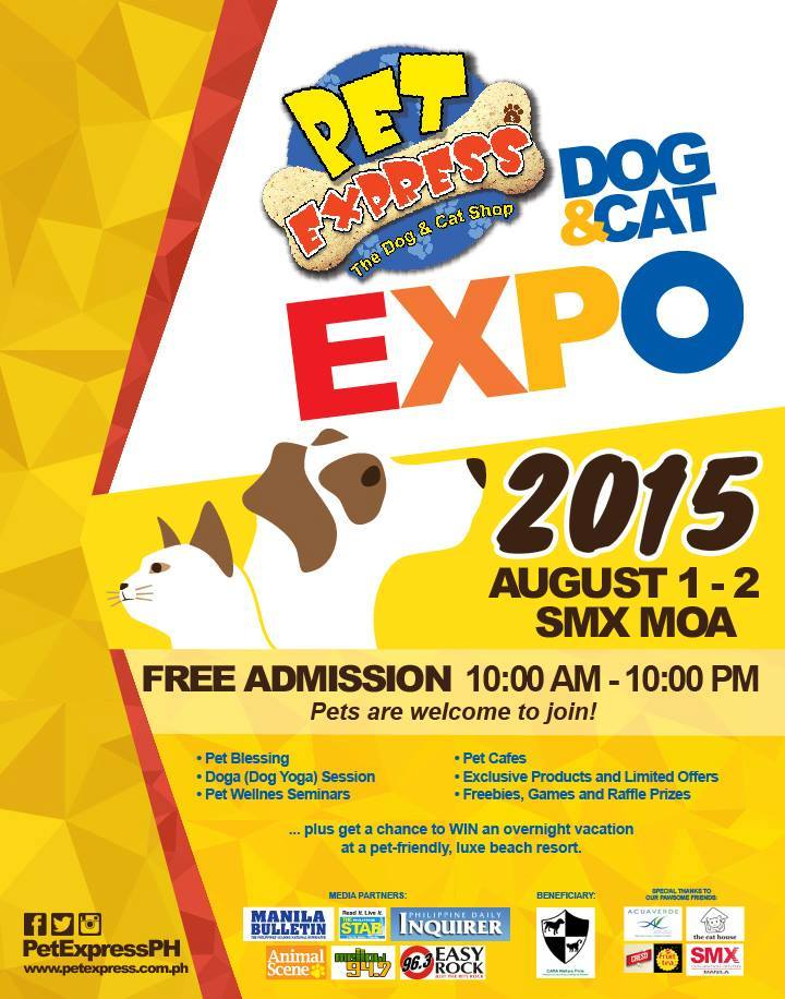 Admission is free at the PetExpress Dog & Cat Expo 2015!