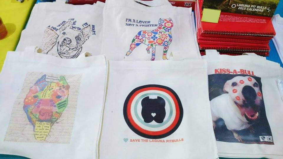 Check out the Laguna Pit Bull Tote Bags!