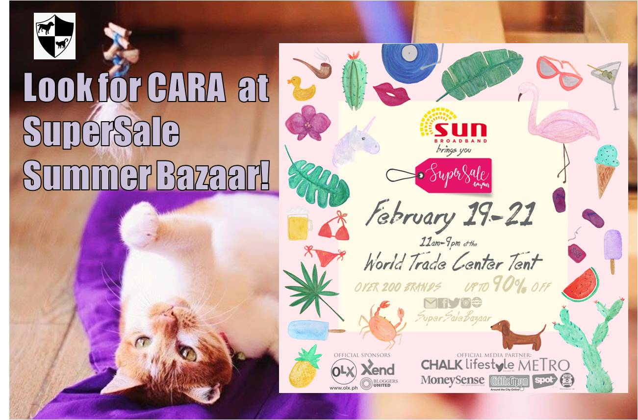 Look for CARA at the SuperSale Bazaar Summer Sale 2016 this Weekend!