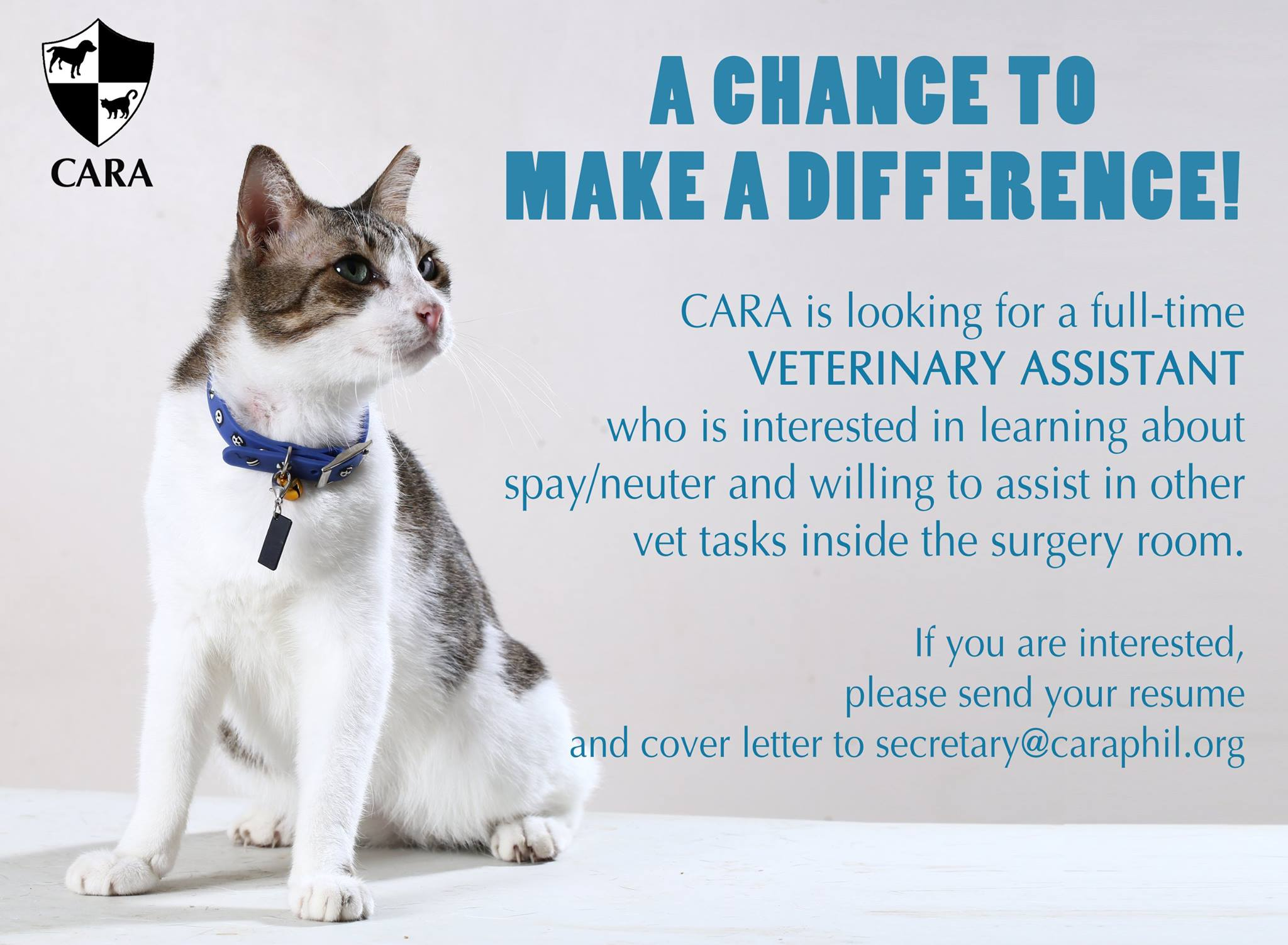 Call for Veterinary Assistant!