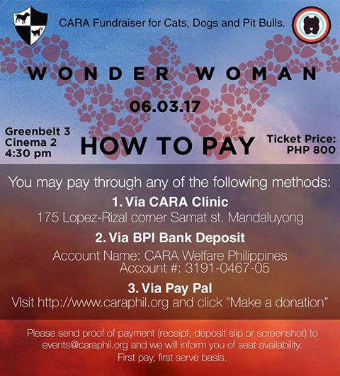 Wonder Woman Screening: How To Pay