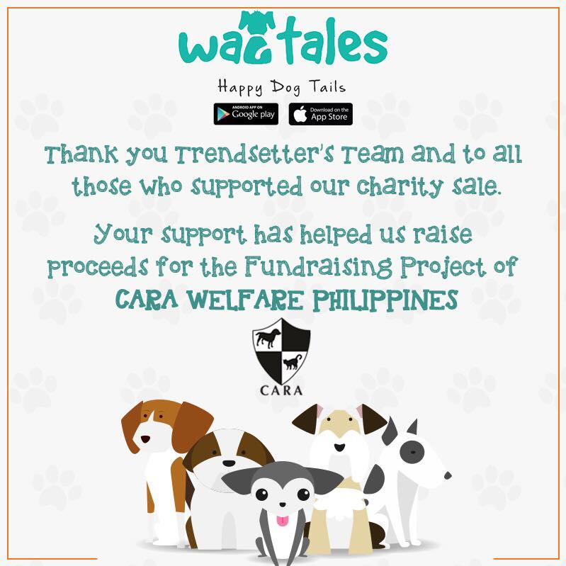 November 2017 - CARA Fundraising Donations Wagtales - CARA Welfare Philippines - AdoptDontShop