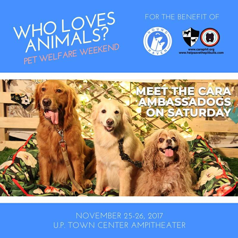 Visit CARA's Booth at the Who Loves Animals? Weekend event!