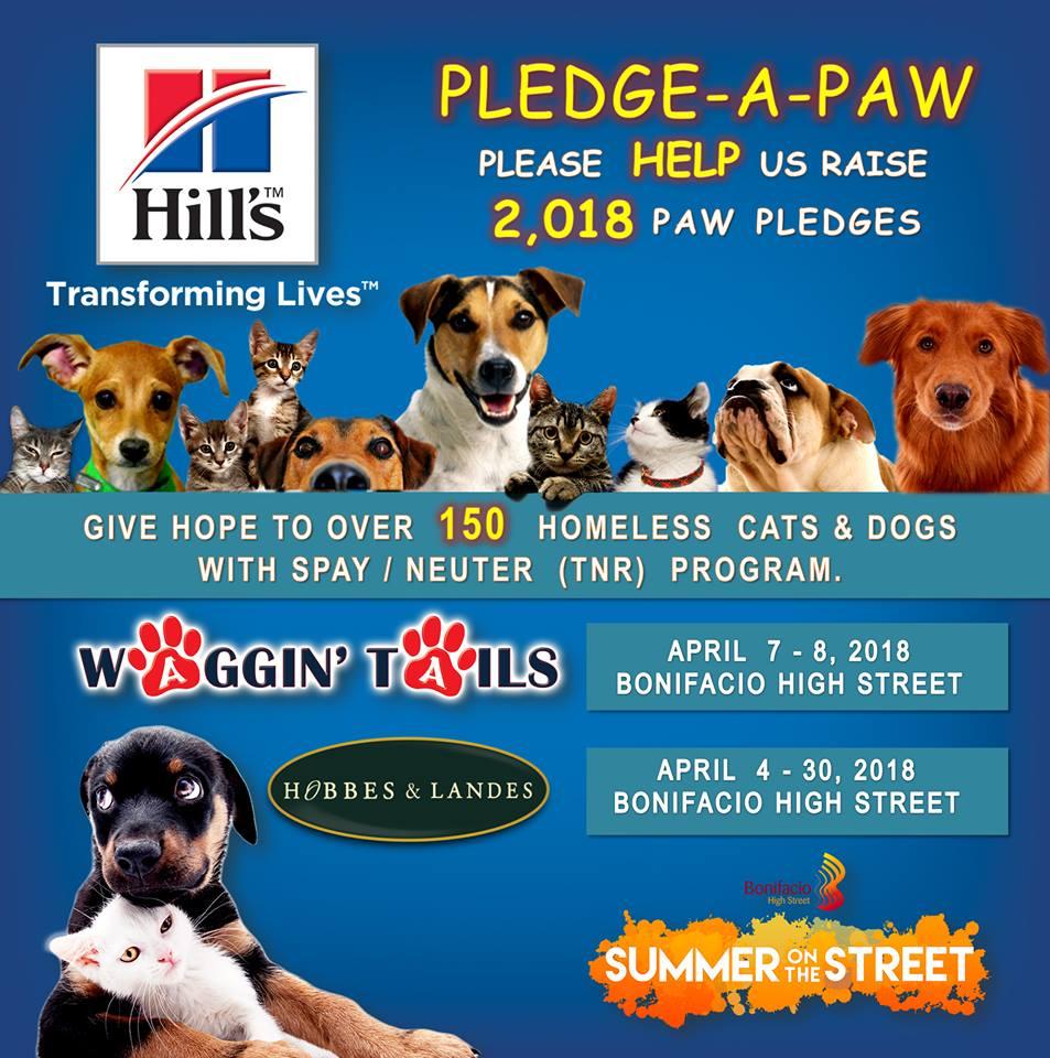 Waggin Tails 2018 pledge a paw