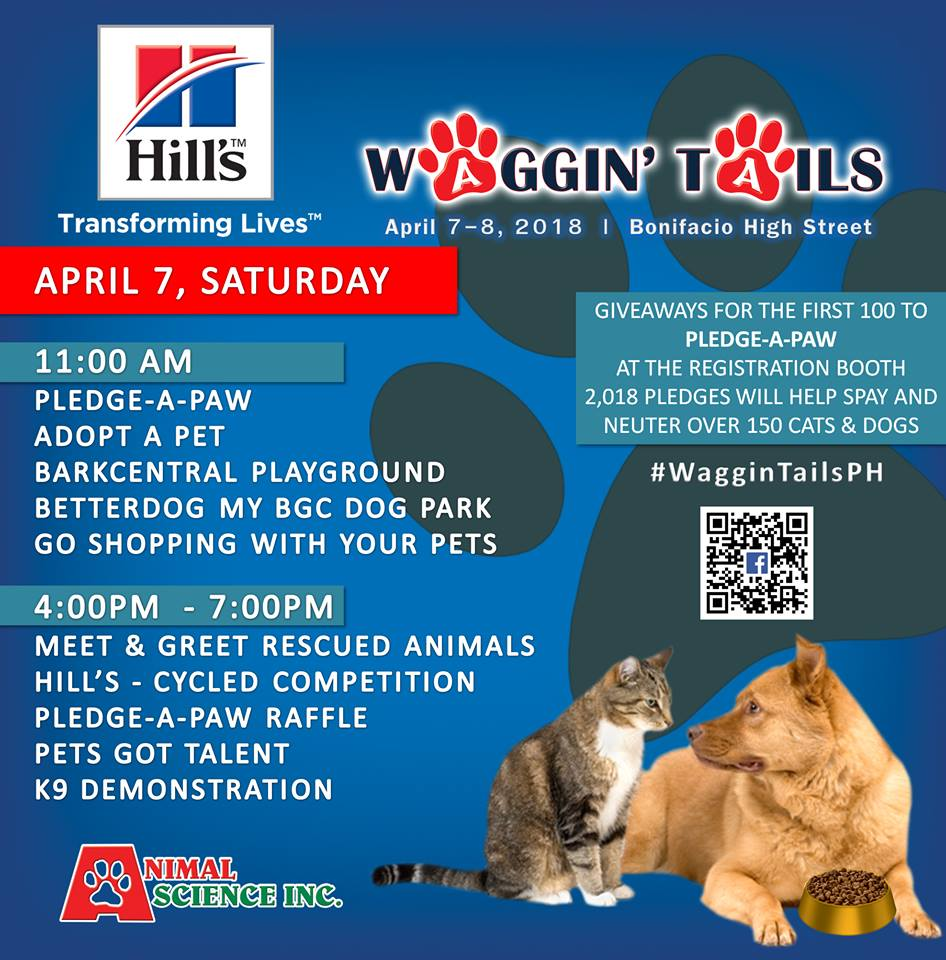 Hello April! We're going to Waggin' Tails 2018!